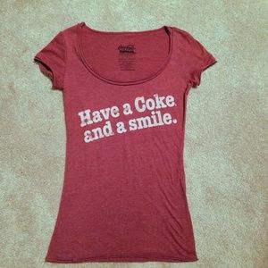 Coca-Cola Vintage red graphic t-shirt S